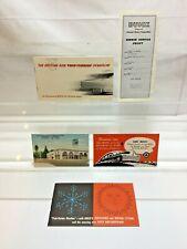 1940's &50's Buick Car Dealer Sales Brochures Warranty AAA Postcard Paper Lot
