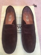 Papouelli Mens/Teens Brown Suede Moccasin Loafers size
