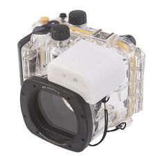 Meikon Underwater Diving Camera Waterproof Housing Case For Canon G15 as WP-DC48