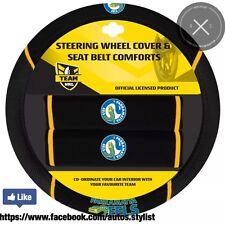 BRAND NEW NRL PARRAMATTA EELS STEERING WHEEL COVER PLUS 2 BONUS SHOULDER PAD