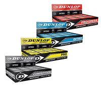 Dunlop Pro Squash Balls - Double Yellow Dot - Pro Competition Progress Intro