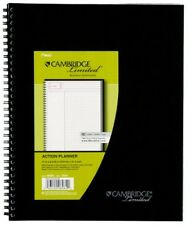 "Mead Cambridge Business Planner Notebook, 8.5 x 11"" Black 80 Shts Office School"