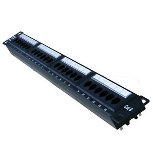 Cat6 Cat-6 24 Port Patch Panel with Backbar Wire Manager and Free Shipping