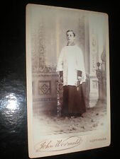 Cdv old photograph choir boy by Wormald at Lofthouse c1890s
