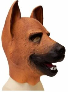 LATEX PUPPY HOOD HEAVY RUBBER THICK DOG FULL HEAD PET PLAY CANINE ZIPPER MASK