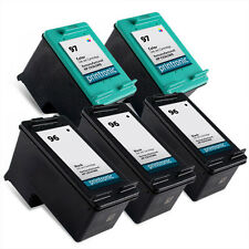 5pk Printronic For Hp 96 97 C8767WN C9363WN Black Color Ink Cartridge