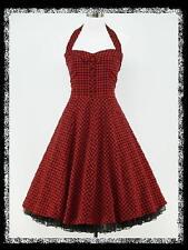 Robe 190 carreaux rouges 50 S rockabilly soirée cocktail prom robe de robe de soirée 12-14