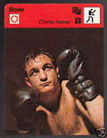 CHARLES HUMEZ French Boxing Boxer Photo 1979 FRANCE SPORTSCASTER CARD 113-09
