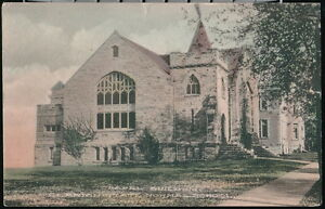 CLARION PA State Normal School Chapel Antique Hand Colored Postcard Old Vtg PC