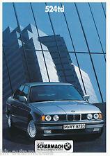 Prospekt BMW 524td 2/90 brochure Autoprospekt Pkw Auto Broschüre broschyr 1990