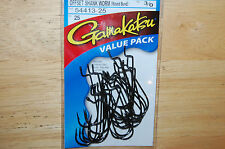 gamakatsu offset shank worm hook round bend size 3/0 value pack 54413-25