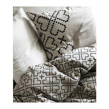 Ikea TWIN Ryssby 2014 Duvet w/case 100% Cotton Black Beige Heart Pattern NIP