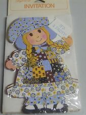 8 Vintage Holly Hobbie Its A  Party Invitations American Greetings Sealed