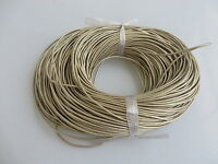 2mm Round 100% Real Genuine Leather Thong Cord for Bracelet & Necklace Making