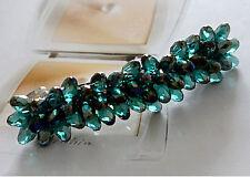 Edle Luxus Haarspange mit Swarovski Kristall Tropfen (B) NEU + Viel mehr im Shop