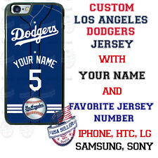 LA DODGERS CUSTOMIZE PHONE CASE COVER WITH YOUR NAME &No. FOR iPHONE SAMSUNG etc