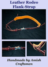 Rodeo Leather Flank Strap, for bucking horses. Handmade by Amish Craftsmen. PRCA