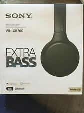 Sony WH-XB700 Wireless Extra Bass Bluetooth Headphones - Black - NIB