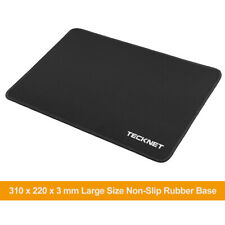 More details for black large gaming mouse mat 3mm waterproof pad non slip rubber base 31cm x 22cm