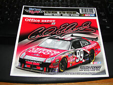 CARL EDWARDS #99 OFFICE DEPOT NASCAR FORD FUSION 6 X 4 ULTRA DECAL