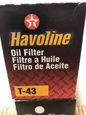 Havoline Oil Filter T-43 T43 (6 Pack) New old stock 04152-31090