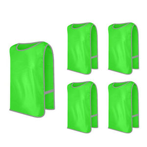 5x Lot GOGO Adult Kid Scrimmage Jersey w/ Waistband Training Vest Pinnies Pack