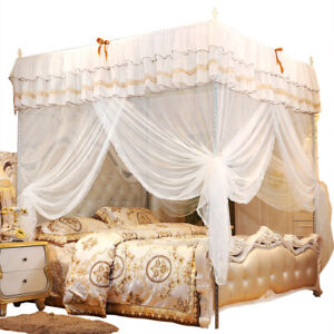 Luxury Princess Four Corner Post Bed Curtains Canopy Netting Mosquito Net Bed