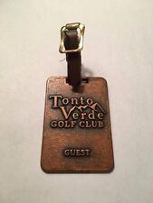 Tonto Verde Golf Club Metal Golf Bag Tag - Rio Verde, Arizona - A Beauty!