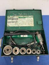 Greenlee 7506ss 12 2 Self Centering Slugsplitterl Hydraulic Knockout Set
