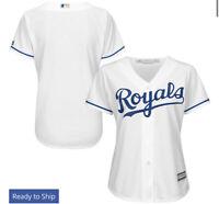 Kansas City Royals Majestic Women's Cool Base Jersey - White Large