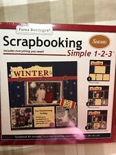 Paper Boutique Scrapbooking Seasons Winter Simple 1-2-3- NEW Wrapped
