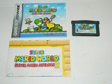 Super Mario Advance 2: Super Mario World (Game Boy Advance) GBA w/ Manual