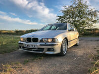 BMW E39 530i MSport Touring, 12 Months MOT, low mileage, black leather