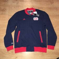 New England Revolution MLS Soccer Adidas Track Jacket Sweatshirt NWT New Large