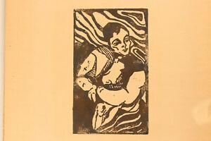Expressiver Original Holzschnitt Erich Heckel/Max Beckmann-Ära Unsign. ca. 1910