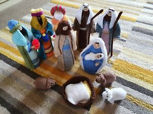 Hand Knitted Nativity