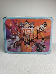 VINTAGE 1978 NFL METAL LUNCHBOX WITH THERMOS (LB041)