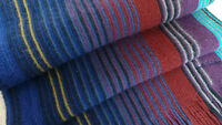 Paul Smith Wool Scarf Purple Multi Stripes