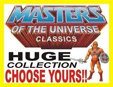 Masters of the Universe Classics MOTUC He-Man Teela Skeletor Hordak Fisto Beast