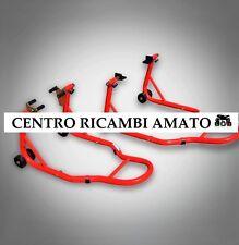 Coppia Cavalletti SMONTABILE AlzaMoto Anteriore e Posteriore Palette+forchette