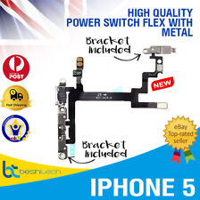 iPhone 5 Volume Mute Sleep Button Power Switch On/Off Button with Metal OEM