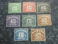 GB POSTAGE DUE STAMPS SGD27-34 LIGHTLY-MOUNTED MINT