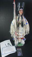 Victory Dancer Kiowa Indian Maiden Porcelain Doll Coa Danbury Mint