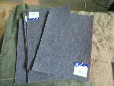 "6 sheets gray self-adhesive felt (9 x 12"")"