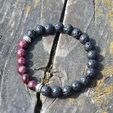 Diffuser Bracelet Garnet And Lava Stone Handmade Healing Stones