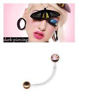 PTFE Intim Piercing (christinarose) petto, lingua, bauchp, Oro Style Rose, Intim gioielli