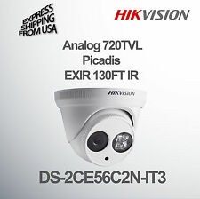 Dome Security Camera Analog 720tvl 3.6mm Lens Hikvision Picadis 130ft Infrared