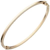 Armreif Armband Armschmuck oval 51,4x58,5mm 585 Gold Gelbgold Goldarmreif, Damen