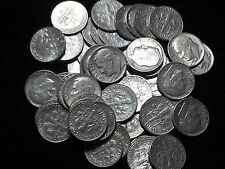 90% Silver Roosevelt Dimes - $5 Face Value Roll - Avg Circulated
