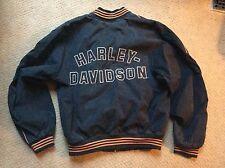 Harley Davidson Black Cotton Hong Kong Embroidered Mens M Motor Cycle Jacket